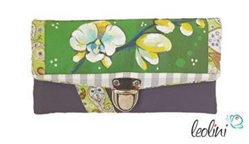 Portemonnaie Geldbeutel Brieftasche Geldbörse Orchideen - handmade, Unikat von Leolini -