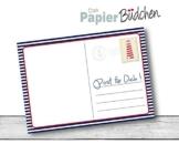 Post für Dich Block • Maritim • DIN A6 Notizblock vom Papierbuedchen -