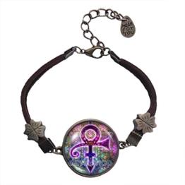 Prince Symbol Armband Armreif Mode Schmuck Charm Logo Zeichen Gedenkstätte 1958-2016 Musik -