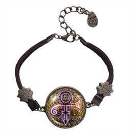 Prince Symbol Armband Armreif Mode Schmuck Charm Logo Zeichen Lila Liebe Geschenk Musik -