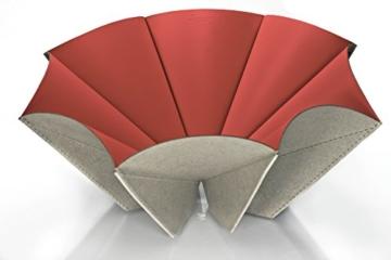 Regenesi o-Re-gami Cup rot in wiederverwertetes Leder gefertigt von Hand in Italien -