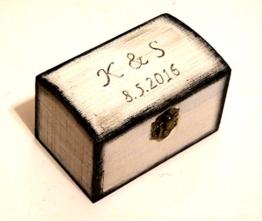 Ring Inhaberaktien Kissen, Ringhalter, Box für Ringe, Herr Frau-Ring-Kasten, Valentines Vorschlag, Weiße Ring Box, Geschenkbox für ihre -
