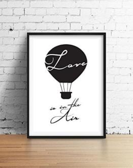 """Romantische Print """"Love Is In The Air"""", Liebe Wanddekor, Liebe Print, Liebe Wandkunst, Schlafzimmer Print, Paar Poster, Schwarzweiß, Inneneinrichtungen, -"""