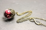 Rosenblätter Kugel Kette Infinity -