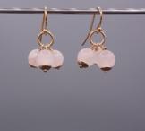 Rosenquarz Ohrringe - 925 Silber rosevergoldet - Beads-in-Fashion -