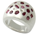 Rubin Ring 2,5 ct. mit Diamanten (Sterlingsilber 925) Rubinring -