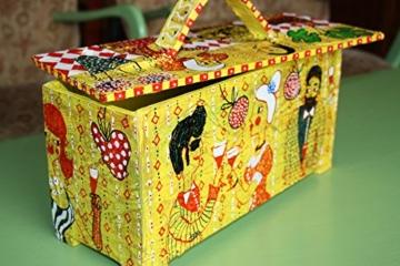 Schachtel, Kästchen aus Pappmache, 23/33/14cm -