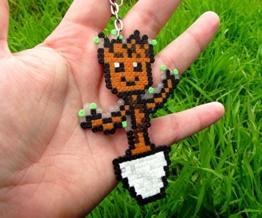 Schlüsselanhänger Dancing Groot - Marvel - Guardians of the galaxy - Gardiens de la galaxie • Hama Beads Pixel/art • Perler Beads • -
