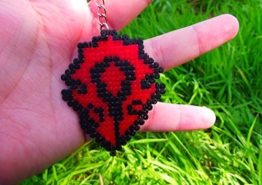 Schlüsselanhänger Horde World of Warcraft - Blizzard • Hama Beads • Pixel/art -