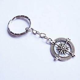 Schlüsselanhänger Kompass Maritim Meer -