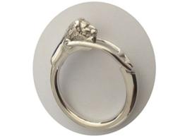 Schlüsselanhänger Löwe D 4 cm aus 925 Silber Sterling. Ansprechendes und zeitloses Design in Premium-Qualität -