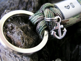 Schlüsselanhänger Männer Frauen mit Gravur silber -
