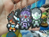 Schlüsselanhänger Overwatch Charaktere - • Hama Beads • Pixel/art - Pixel Art • Perler Beads • Widow Tracer Reinhardt Hanzo Genji Reape -