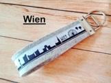 """Schlüsselanhänger """"Wien"""" aus Wollfilz von ds-handmade -"""