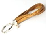Schlüsselanhänger Wunschtext Leder Perle Art. 06 -