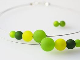 Schmuckset Polariskette grün dunkelgrün Kette -