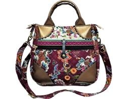 Schöne Tasche Handtasche Umhängetasche bordeaux Marsala weinrot gold -