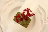 """Serviettenring """" Pilz"""" grün-rot,Weihnachtsdeko,Herbstdeko -"""