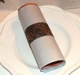 Serviettenring schwarz gepunktet Weihnachtsdeko,Herbstdeko -
