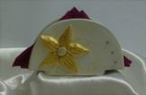Serviettenringe goldenen Blumen Online -