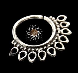 Silberner Nasenring - silberner Nasenreifen - indischer Nasenring - Tribal Nasenring - Nasenschmuck - Nasenpiercing - winziger Nasenring - Nasenlochschmuck - Nasenlochring - Piercing Schmucksachen -