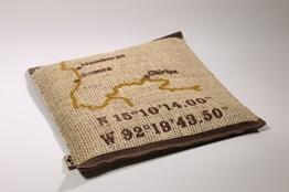 """Sitzkissen aus Naturfilz und Kaffeesack """"Finca Chiripa"""" - Kaffeesack-Kissen aus dem Atelier von traditionsWerk -"""