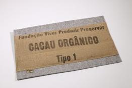 """Sitzkissen aus Naturfilz und Kakaosack """"CACAU ORGANICO"""" - Kakaosack-Kissen aus dem Atelier von traditionsWerk -"""