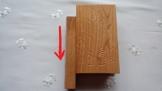 Spezielle Kirsche Holz schöne Schmuckschatulle Fall, Überraschung, geheimen Puzzle Magie Buch - Kasten mit Geheimfach innen, Gehirn Teaser -