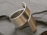 Spiralring Silber glatt -
