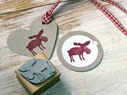 Stempel Elch Weihnachtsstempel für Basteln, DIY, Geschenkverpackung Scrapbooking -