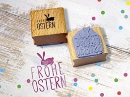 Stempel Frohe Ostern Osterhase Osterdeko handmade -