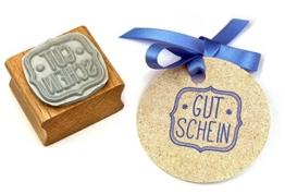 Stempel GUTSCHEIN, für Handmade, DIY, Schenken -
