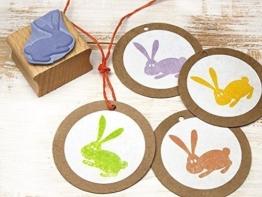 Stempel Hase Ostern Osterhase für Basteln, DIY, Geschenkverpackung Scrapbooking, handmade -
