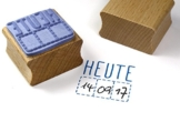 Stempel HEUTE Datumstempel für todo, Kalender, Terminplaner, Tagebuch -