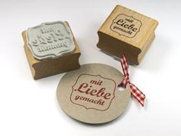 Stempel mit Liebe gemacht für DIY, Selbstgemachtes, Papeterie, Etiketten.... -