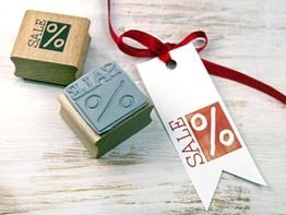 Stempel SALE Prozent Rabattstempel Preisstempel für Verkäufer -