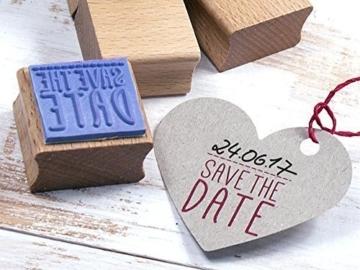 Stempel SAVE THE DATE Hochzeit, Feier, Einladung, DIY, Selbermachen, kreatives Gestalten, Papierdesign -