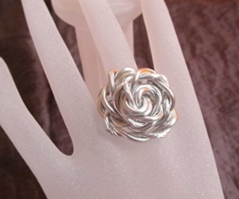 """Stylischer Ring Drahtring """"Rose"""" Silber -"""