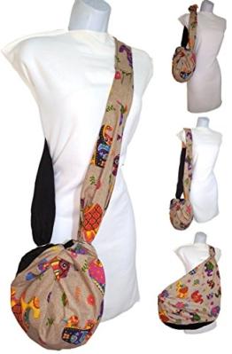 Taschen Handtaschen & Schultertaschen, Design A.CACERES - Baumwolle Elefanten. es ist klein und ist groß. Er wächst in Größe und dient als Einkaufstasche . Speichern Plastiktüten Kontamination zu vermeiden. -