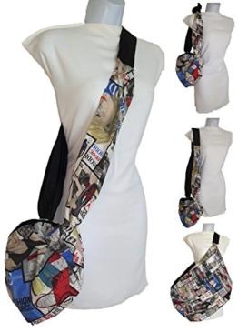 Taschen Handtaschen & Schultertaschen, Design BOLSOHATILLO - Baumwolle Modezeitschriften. es ist klein und ist groß. Er wächst in Größe und dient als Einkaufstasche . Speichern Plastiktüten Kontamination zu vermeiden. -