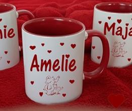 Tasse Kaffeebecher mit Namen Namentasse personalisiert nach Wunsch -