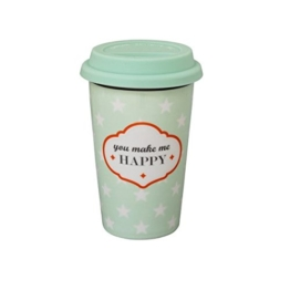 """To go - Becher """"you make me happy"""" -"""