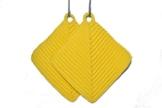 Topflappen gelb gehäkelt aus Baumwollgarn 100 % Baumwolle -