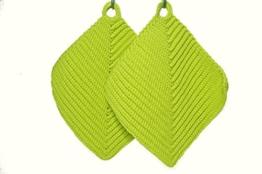 Topflappen helles Hellgrün gehäkelt aus Baumwollgarn 100 % Baumwolle -