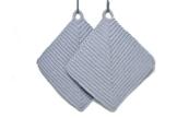 Topflappen hellgrau gehäkelt aus Baumwollgarn 100 % Baumwolle -