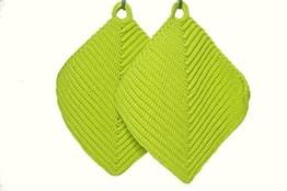 Topflappen hellgrün gehäkelt aus Baumwollgarn 100 % Baumwolle -