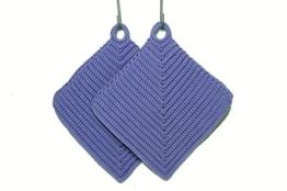Topflappen lila gehäkelt aus Baumwollgarn 100 % Baumwolle -