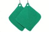 Topflappen türkisgrünpetrol gehäkelt aus Baumwollgarn 100 % Baumwolle -