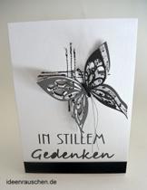 """Trauerkarte """"Schmetterling"""" -"""