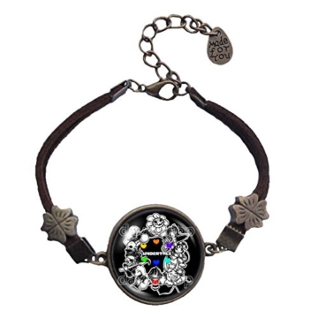 Undertale Armband Armreif Kunst Glas Mode Schmuck Charm Cosplay Undyne -